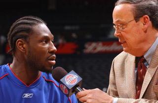 Pistons honor longtime broadcaster George Blaha