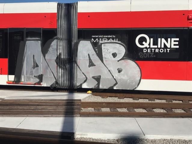 Detroit QLINE Rail Car Defaced With Anti-Police Slogan