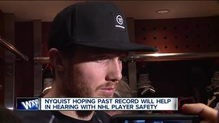 Nyquist prepares for NHL Player Safety hearing