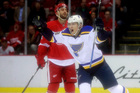 Early goal helps Blues blank Red Wings