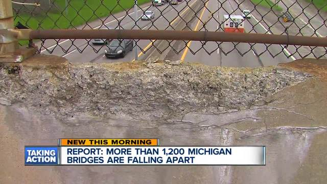 Report More than 1,200 Michigan bridges falling apart