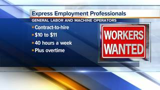 General laborers and machine operators needed