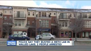 2 arrested after Walled Lake meth lab bust