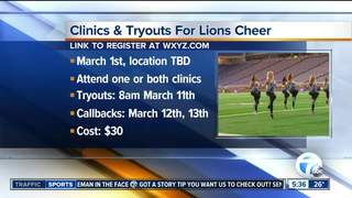 Lions cheer team host clinics & tryouts for 2017