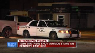 Twin brothers shot, one killed in Detroit