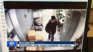 Thief helps himself to servers tips, purses