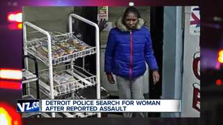 Detroit police seek woman after reported assault