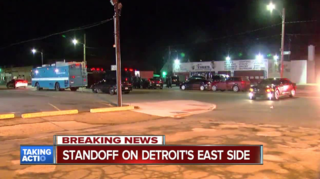Barricaded gunman fires shots at officers