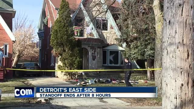 Police take barricaded gunman into custody on Detroit's ...