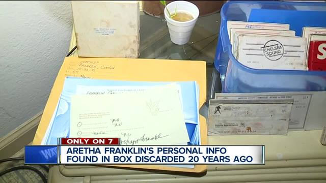 Aretha Franklin-s personal information found in box discarded 20 years ago
