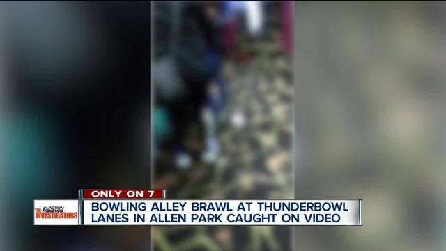VIDEO- Large fight breaks out at Allen Park-s Thunderbowl Lanes