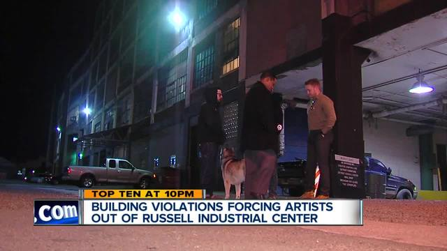 Building violations forcing artists out of Russell Industrial Center