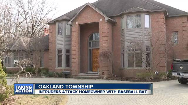 Intruders attack homeowners with baseball bat