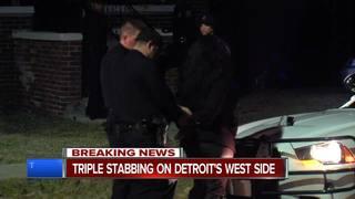 Three injured, one in custody in triple stabbing