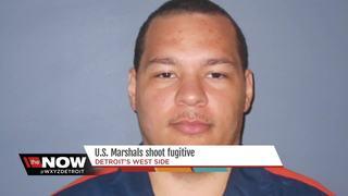 U.S. Marshals shoot fugitive in Detroit