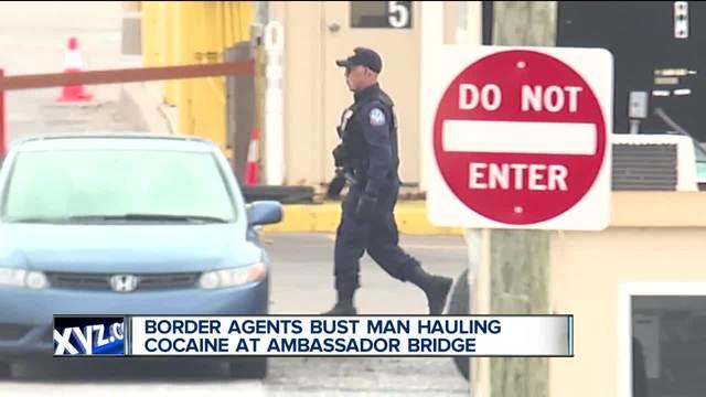 Border agents bust man hauling cocaine at Ambassador Bridge