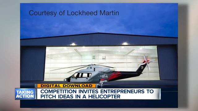 Competition invites entrepreneurs to pitch ideas in a helicopter