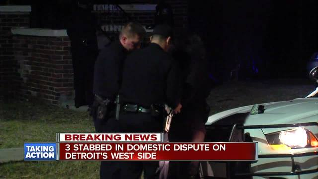 3 stabbed in domestic dispute on Detroit-s west side