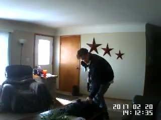 Webcam captures home invasion suspect off guard