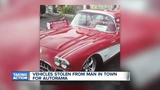 Social media helps owner track his stolen cars