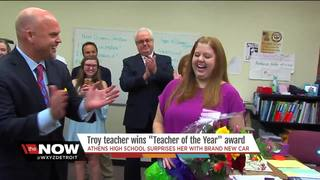 Troy's Teacher of the Year surprised with car