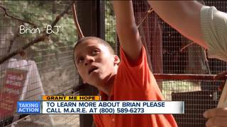Grant Me Hope: Brian likes to swim and dance