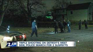 Detroit police investigate triple shooting
