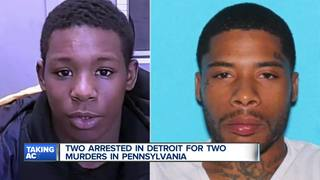 Murder suspects from Penn. arrested in Detroit