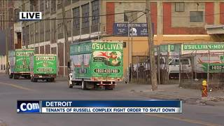 Russell Industrial tenants protest shut down