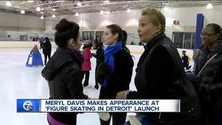 Olympian helps Detroit girls learn to skate