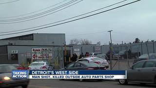 Man shot, killed outside Detroit auto parts shop