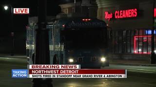 Standoff with gunman ends in northwest Detroit