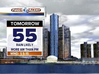 FORECAST: Rain tomorrow