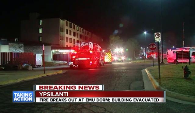 EMU dorm evacuated after fire