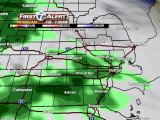 FORECAST: Rain today, storms and snow ahead