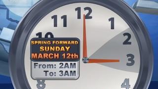 Daylight Saving Time begins Sunday, March 12
