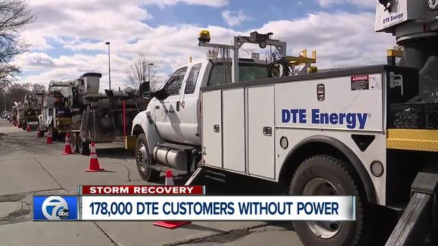 DTE: All power to be restored by 11:30 pm Monday
