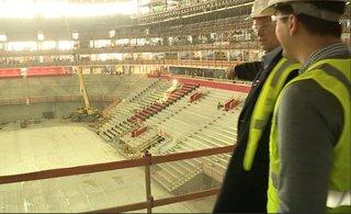VIDEO: Red Wings locker room at Little Caesars
