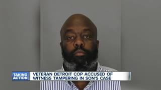 Police officer charged with witness tampering
