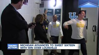 Wagner's career high leads Michigan to Sweet 16