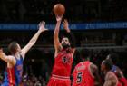 Mirotic scores career high; Bulls beat Pistons