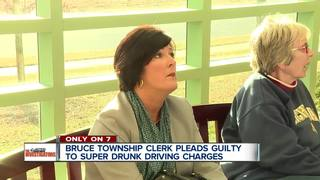 Township clerk pleads guilty to 'super drunk'