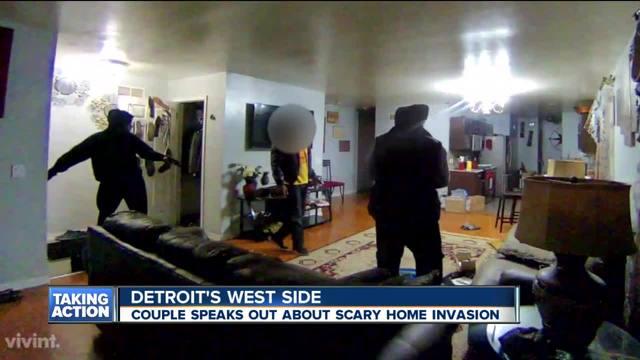 Victim of Detroit home invasion speaks after surveillance video released