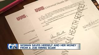 Woman warns about apparent job offer scam