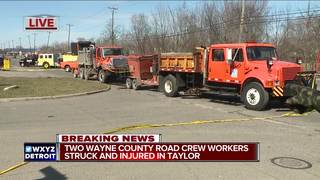2 workers injured patching potholes in Taylor