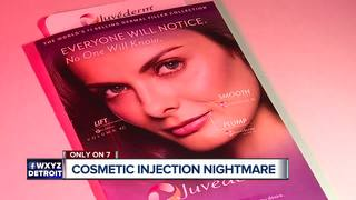 Woman learns her lips were injected with silicon