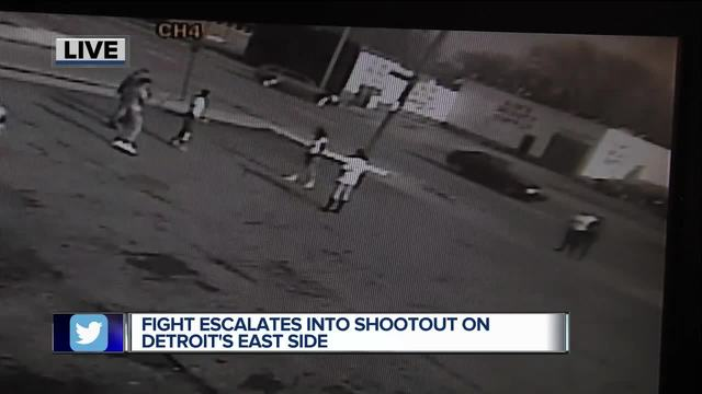 Fight escalates into shootout on Detroit-s east side