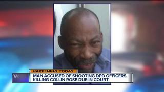 Man accused in officer shootings due in court
