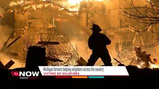 Michigan farmers helping wildfire victims