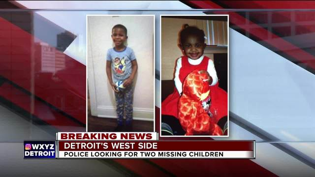 Detroit police searching for missing 3-year-old and 1-year-old